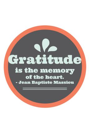 Gratitudes, November.