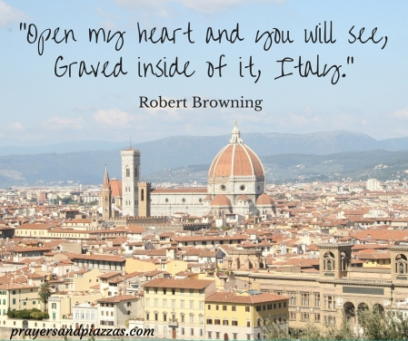 -Open my heart and you will see, Graved inside of it, Italy.-