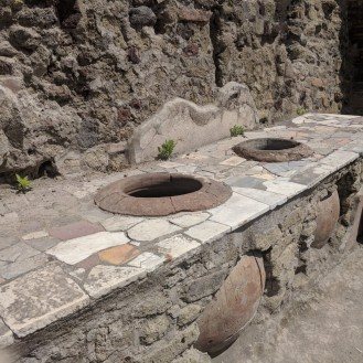 "Cooking pots of an ancient ""restaurant"", a popular lunch spot!"