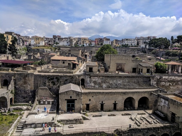 Herculaneum, a seaside retreat for wealthy Romans before the eruption of Mt. Vesuvius
