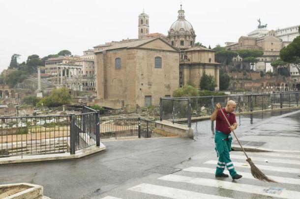 Дворник в Риме